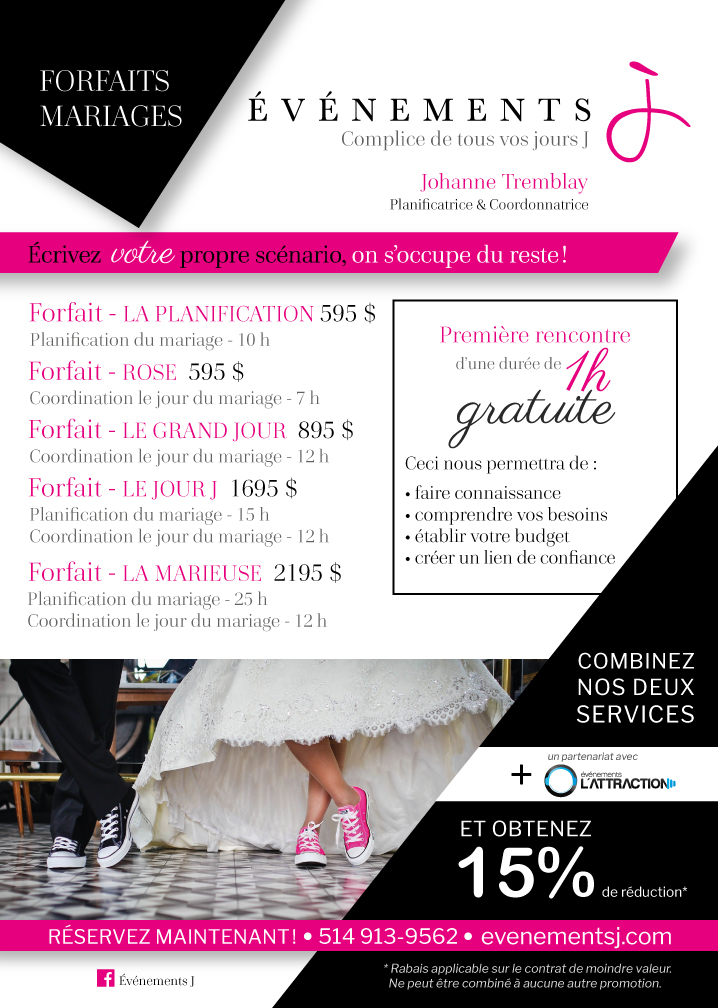 Forfaits mariages
